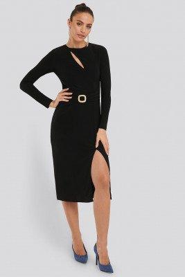 Trendyol Trendyol Accessory Detail Dress - Black