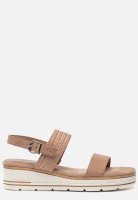 marco tozzi Marco Tozzi Vegan sandalen beige