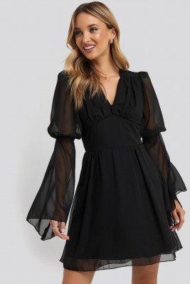Trendyol Trendyol Corsage Detailed Mini Dress - Black