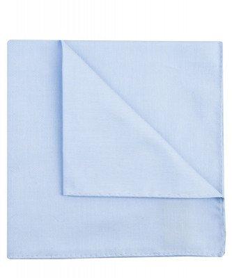 Profuomo Profuomo heren blauw royal twill katoenen pochet