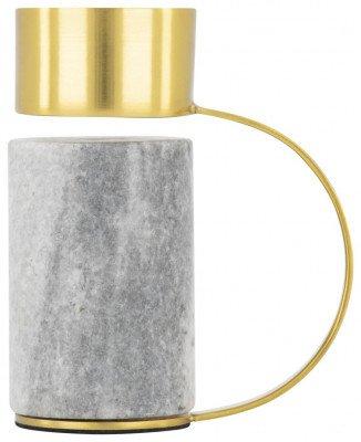 HEMA HEMA Waxinelichthouder 10cm - Marmer/metaal (multi)