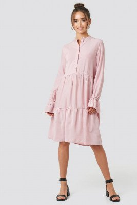 NA-KD Trend Solid Shirt Dress - Pink