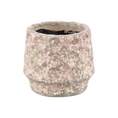 Firawonen.nl Ptmd delina licht roze keramiek pot cirkels rond s
