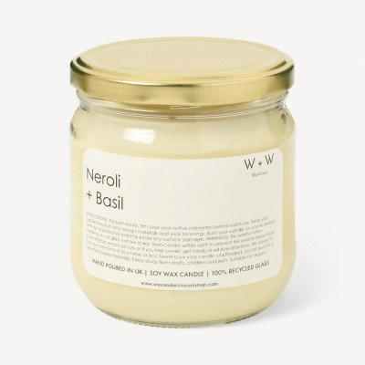 MADE.COM Wax + Wick neroli en basilicum kaars