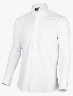 Cavallaro Napoli Cavallaro Napoli Heren Overhemd - Franco LS Overhemd - Wit