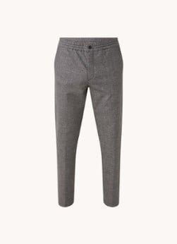 Hugo Boss HUGO BOSS Gyte slim fit pantalon met stretch en ruitdessin