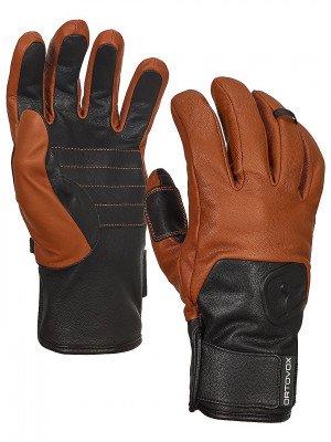 Ortovox Ortovox Swisswool Leather Gloves bruin