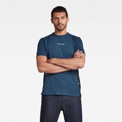 G-Star RAW T-shirt Moto Neopreen - Donkerblauw - Heren