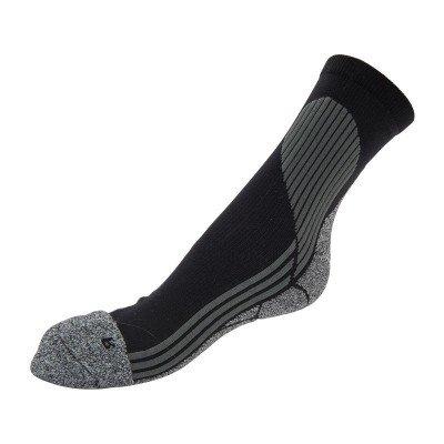 Coolmax sportsokken 39/42 - zwart/grijs - 2 paar