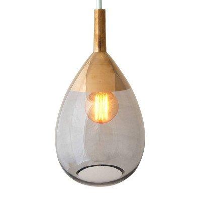 Ebb en Flow EBB & FLOW Lute hanglamp platina, glas grijs