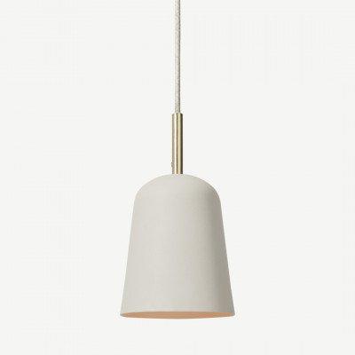MADE.COM Norah hanglamp, warmgrijs en geborsteld messing
