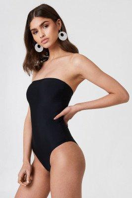 NA-KD Swimwear NA-KD Swimwear Bandeau Swimsuit - Black