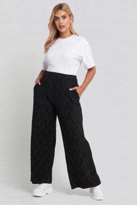 NA-KD NA-KD Creased Effect Loose Fit Pants - Black