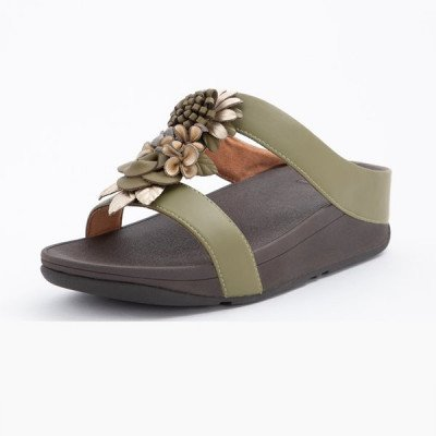 FitFlop FitFlop Fino Floral Cluster slippers groen