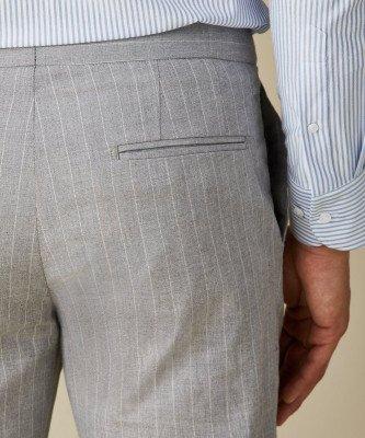 Profuomo Profuomo heren grijs katoen-stretch sportcord broek
