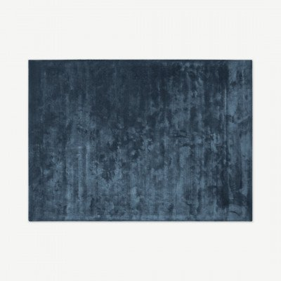 MADE.COM Merkoya vloerkleed, groot, 160 x 230 cm, leisteen blauw