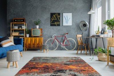 Kayoom Kayoom Vloerkleed 'Blaze 400' kleur Multicolor, 75 x 150cm