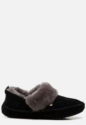 Warmbat Warmbat Barrine pantoffels zwart