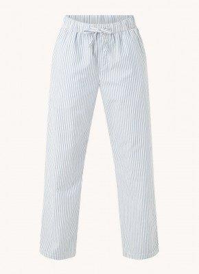 TEKLA TEKLA Pyjamabroek met streepprint van biologisch katoen