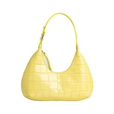 By FAR Baby Amber Croco Embossed Leather Bag