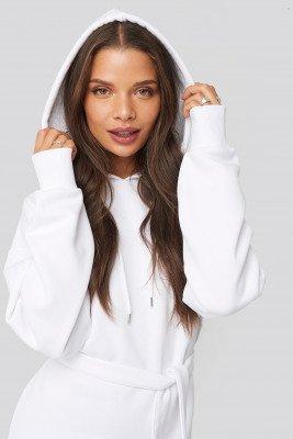 Donnaromina x NA-KD Donnaromina x NA-KD Belted Hoodie Dress - White