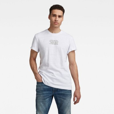 G-Star RAW Chest Text Graphic T-Shirt - Wit - Heren