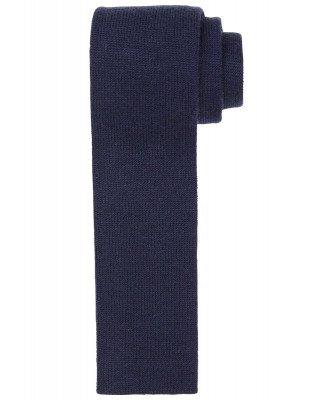 Profuomo Profuomo heren navy knitted kasjmier stropdas