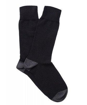Profuomo Profuomo heren two-pack zwart katoenen sokken