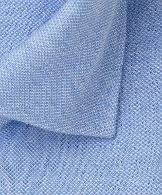 Profuomo Profuomo heren blauw knitted overhemd Originale