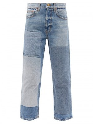 Matchesfashion B Sides - Marcel Upcycled Patchwork Straight-leg Jeans - Womens - Denim