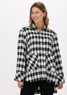 Selected Femme Zwarte Selected Femme Blouse Slfkali Ls Overshirt G