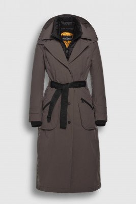 Creenstone Creenstone Technical trenchcoat with detachable front panel - Cocoa Bean