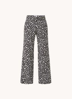 Fabienne Chapot Fabienne Chapot Puck high waist wide fit pantalon met bloemenprint
