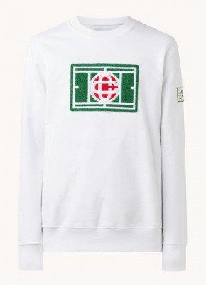 Casablanca Casablanca Chenille sweater met patch