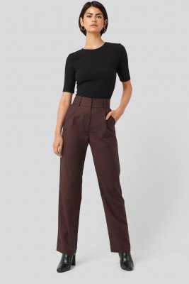 NA-KD Classic NA-KD Classic Loose Fit Suit Trousers - Red