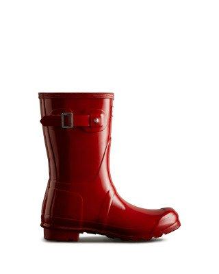 Hunter Boots Women's Original Short Gloss Wellington Boots