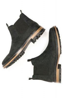 Will's Vegan Store Will's Vegan Store unisex vegan Chelsea Boots Continental Zwart Zwart 36 Microfibre (micronappa, microsuède)/PU