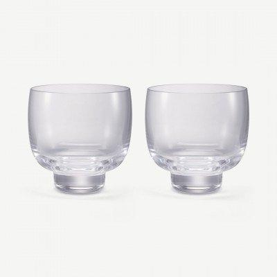 MADE.COM NUDE Glassware set van 2 whiskyglazen, transparant