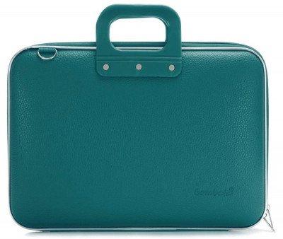 Bombata Bombata Maxi Hardcase Laptoptas 17 inch Teal Blue