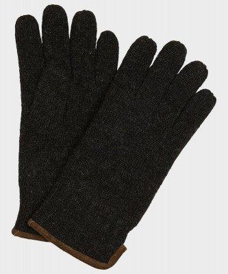 Michaelis Michaelis heren gebreide handschoenen met suède antraciet