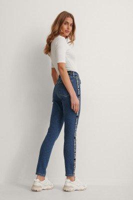 Calvin Klein Calvin Klein Skinny Enkeljeans Met Hoge Taille - Blue