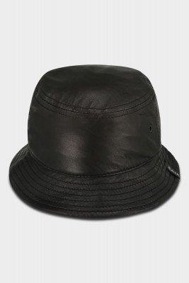 BALR. Maxime Leather Bucket Hat Jet