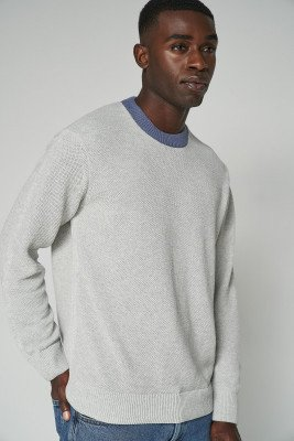 nu-in 100% Upcycled Blend Textured Knit Contrast Jumper