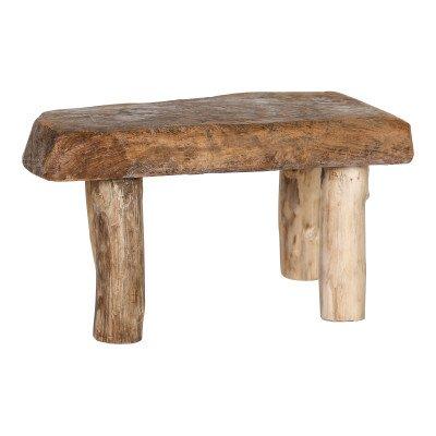 Firawonen.nl Rexy wood natural erosie stool rectangle