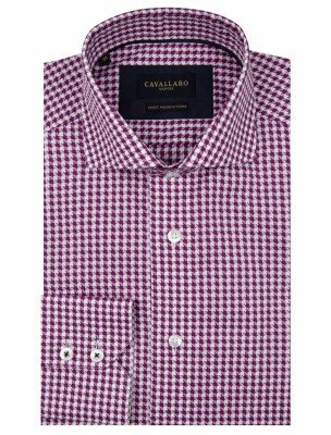 Cavallaro Napoli Cavallaro Napoli Heren Overhemd - Zodio Overhemd - Paars