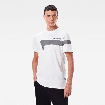 G-Star RAW 1 Reflective Graphic T-Shirt - Wit - Heren