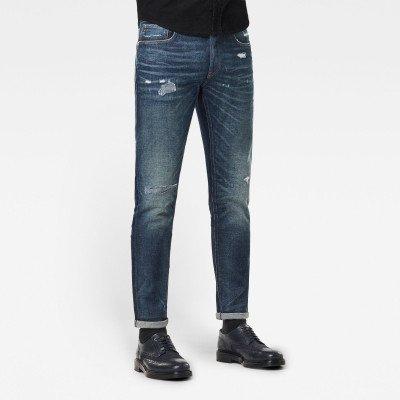 G-Star RAW 3301 Slim Selvedge Jeans - Donkerblauw - Heren