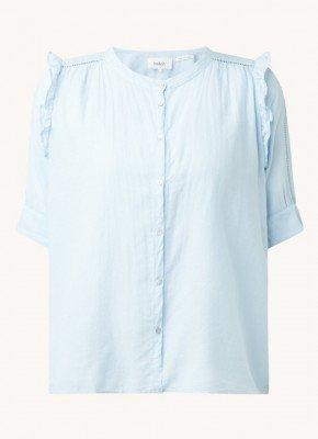 BAenSH ba&sh Tyana blouse met ronde hals en pofmouw