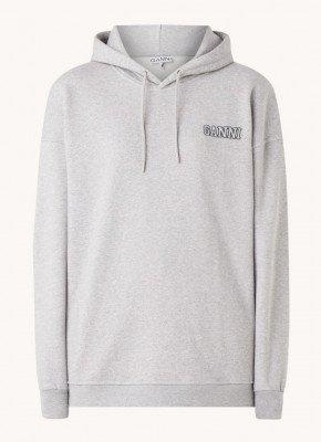 Ganni Ganni Paloma oversized hoodie met logo en split