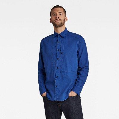 G-Star RAW Panelled Pocket Slim Shirt - Midden blauw - Heren